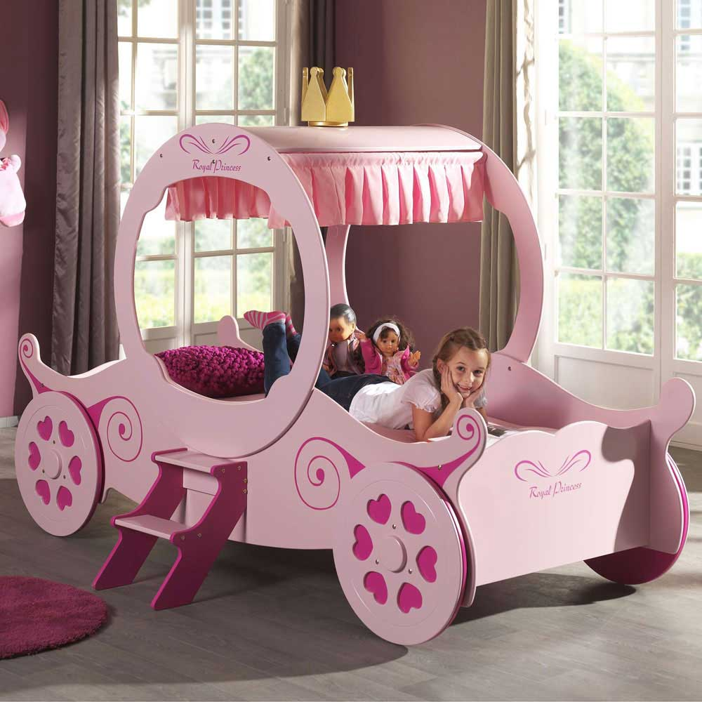 Hello Kitty Kinderzimmer Kinder-bett Hearty In Rosa Als Kutsche | Pharao24.de