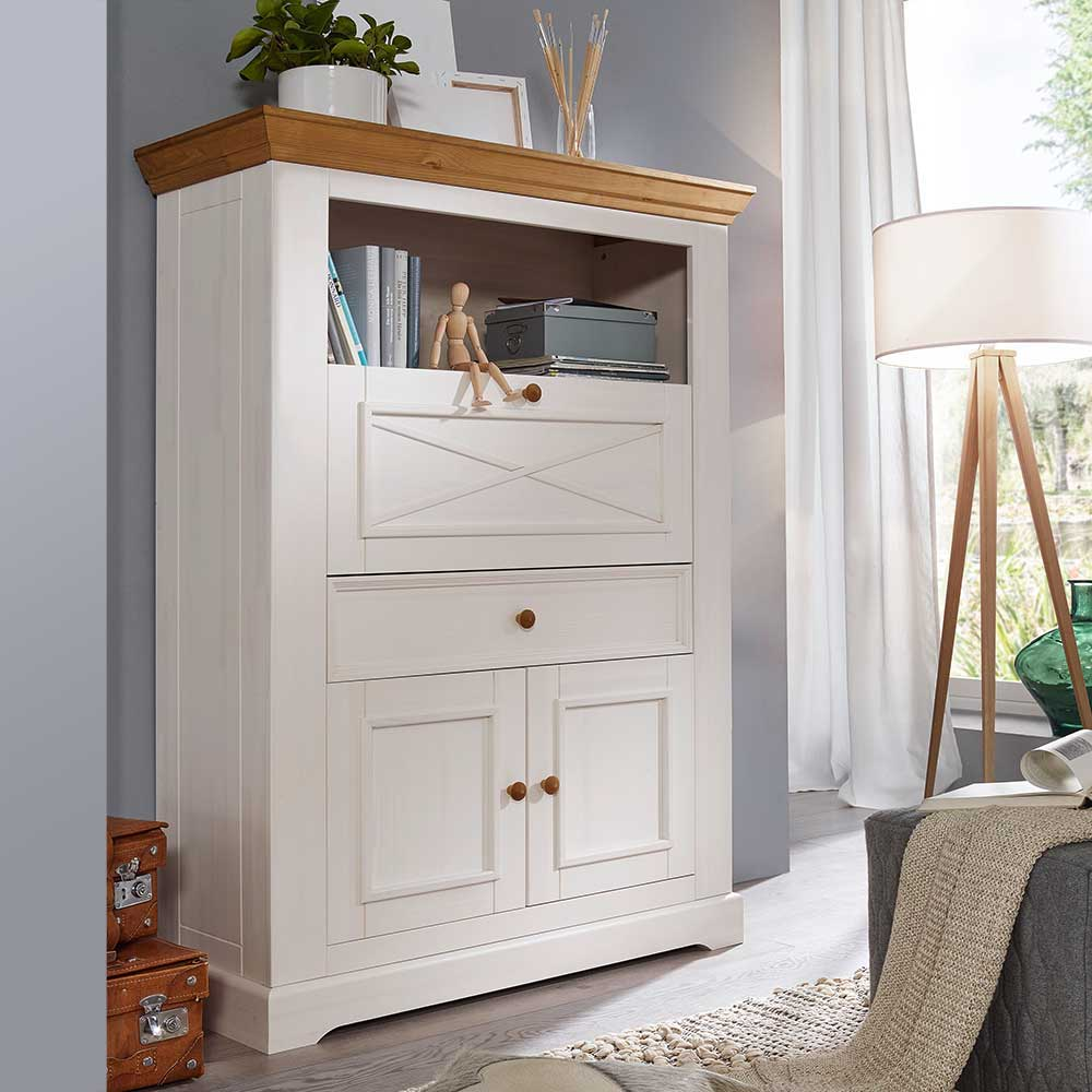 Highboard Landhaus Landhaus Highboard Charming Mit Schreibklappe | Pharao24.de