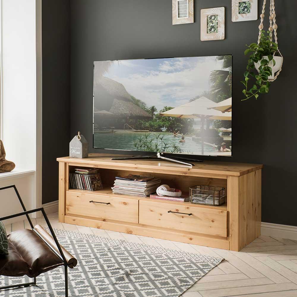 landhausstil tv mobel cassari aus kiefer massivholz lackiert und gebeizt