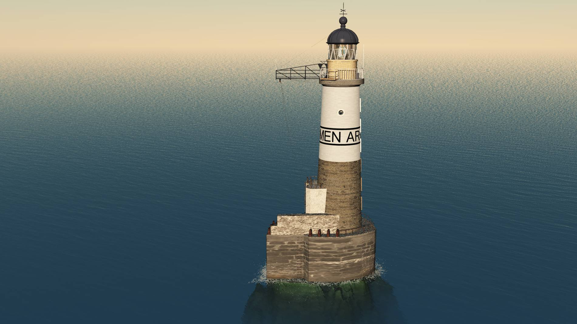 Ar Men Phare Ar Men France Lighthouse 3d Phares 3d