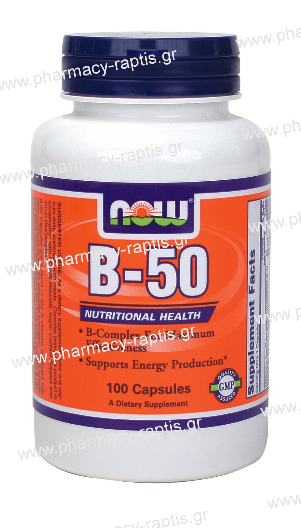 Foods Vitamin B 50 Now Foods Vitamin B 50 Complex 100 Caps Pharmacy Raptis Gr