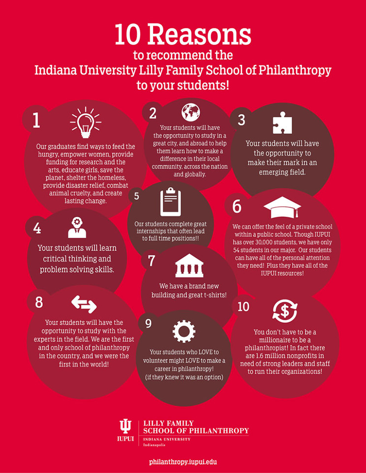 Top 10 Reasons to Recommend the IU Lilly Family School of