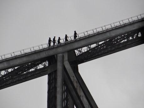 Sydney Bridge Climb in rain