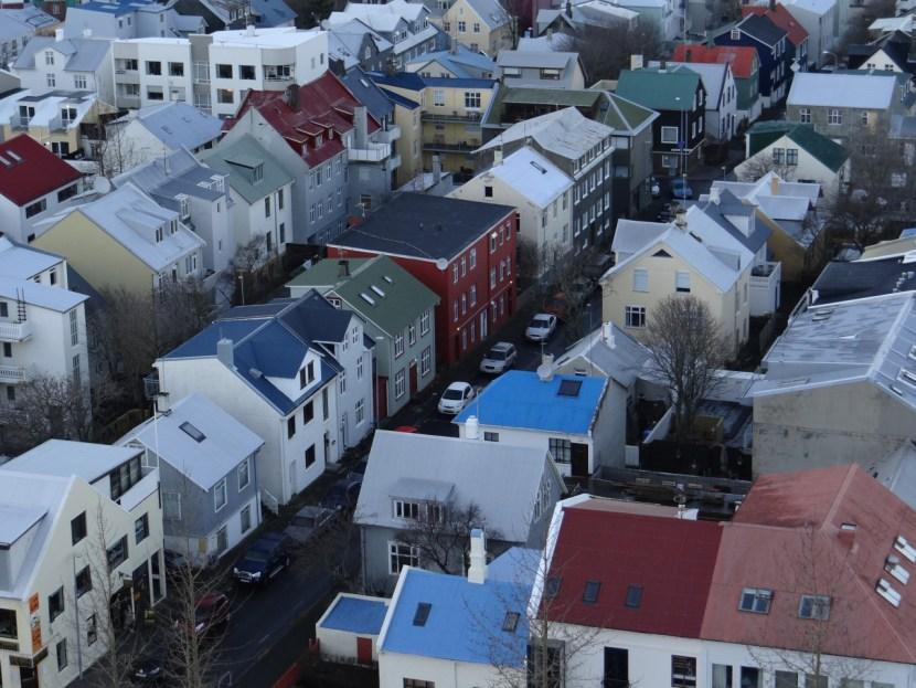 Colorful houses of Reykjavik Iceland