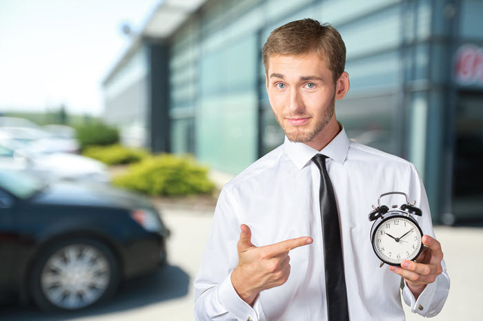sales tip: the best sellers are on time every time