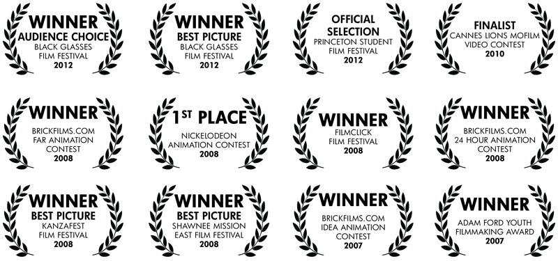 Awards for my stop motion work