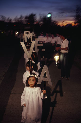 PHILIPPINES. Religion in the Philippines. Young children in a religious procession. 1981.
