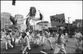 USA. New York City. Anti Nuclear March. 1982.