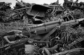 VIETNAM. Long Binh. Discarded equipment collects in stockpiles as the ground war draws to a close. 1970