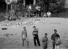 CAMBODIA. Near Danang. Beachhead assaults took place more often for drunken parties than for attacking the enemy. As the war became more automated, soldiers who remained had more leisure time. 1970