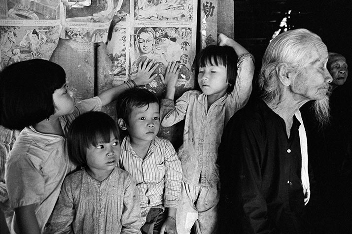 VIETNAM. The parents of young children were rarely present in the village of Vietnam. Americans often wondered where all the children came from. The fathers were often away fighting for one side or the other, and the mothers had jobs servicing the G.I.'s. Whether officially called cleaning, laundering, shoe-shining, or even car-washing,