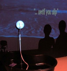 ...until you slip - installation view