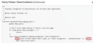 in functions.php von h1 auf h2 stellen