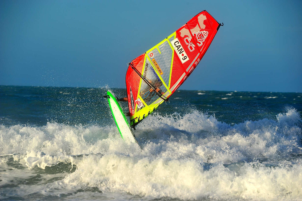 Waveride by Phil Soltysiak CAN 9 Windsurfing in Jericoacoara, Brazil. Photo by Adrian Irvine.