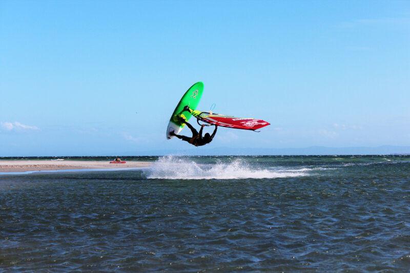 Phil Soltysiak CAN 9 Windsurfing at La Punta, El Yaque Beach. Photo by Lisa Pina.