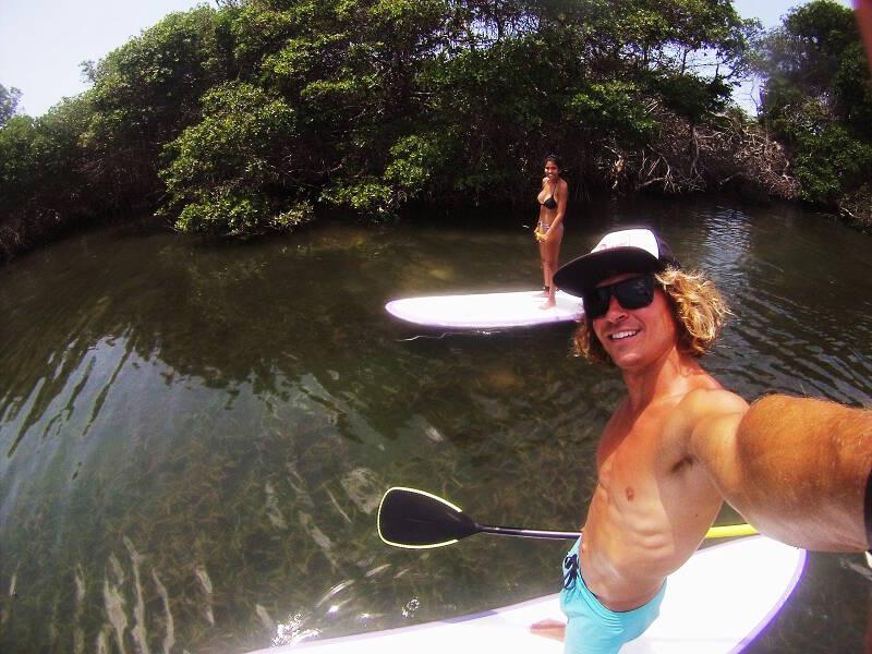 SUP tour with my girlfriend in the lagoon near El Yaque, Isla Margarita.