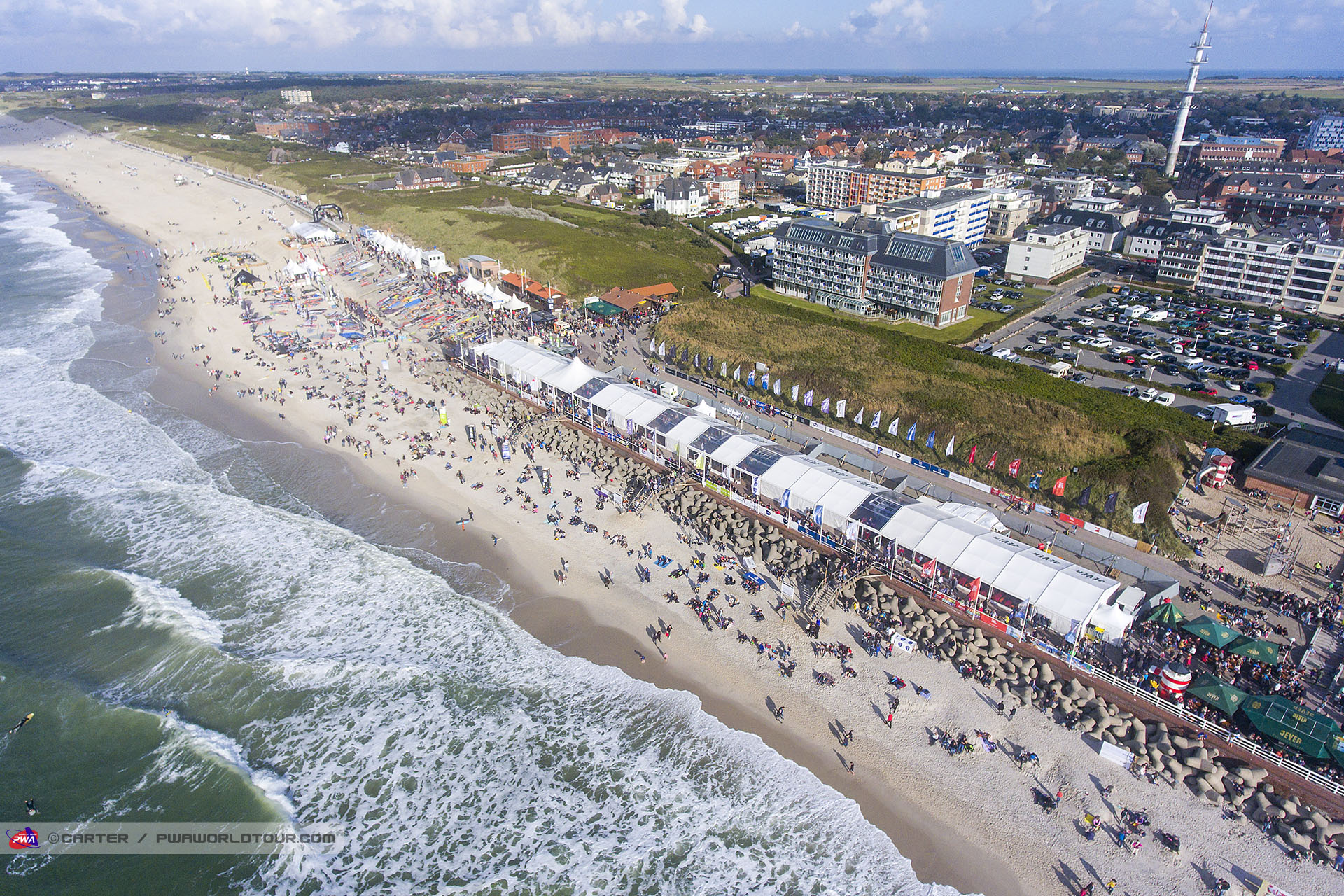 Sylt Windsurf World Cup from above