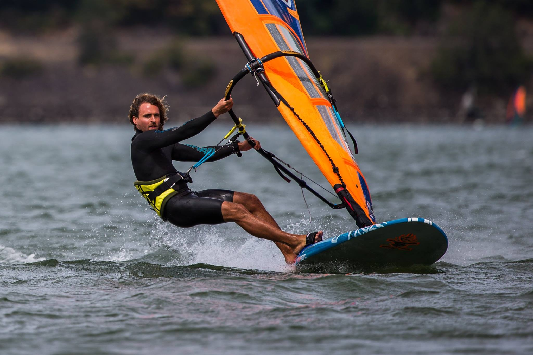 Phil Soltysiak powered up on slalom gear. Photo by Karel Tyc.