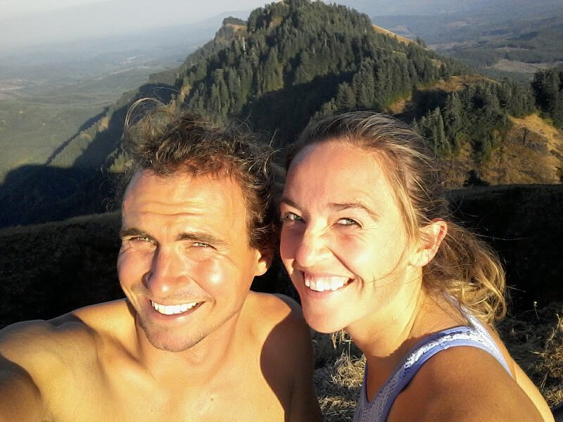 Top of Saddle Mountain with Kelsey