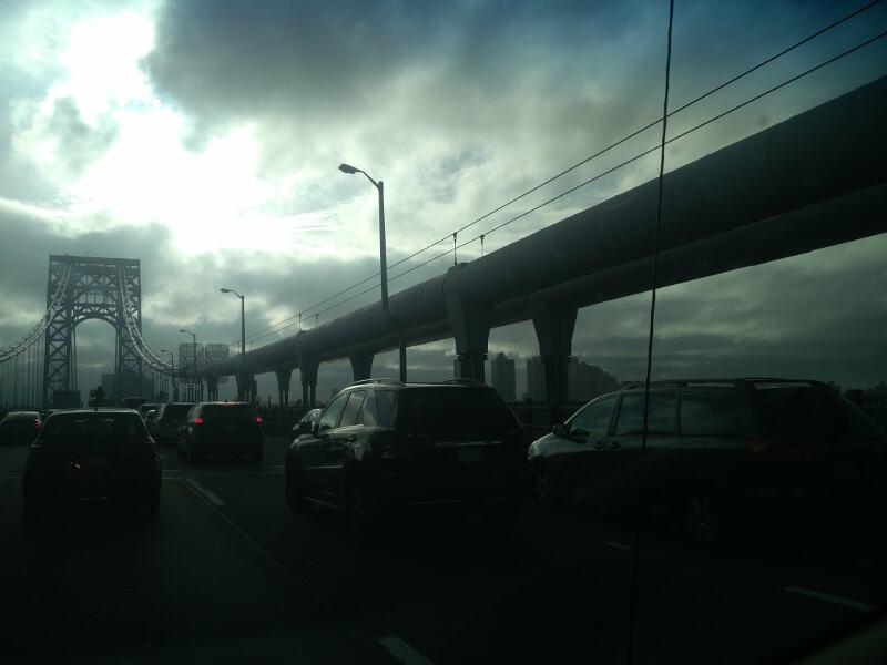New York City stormy traffic