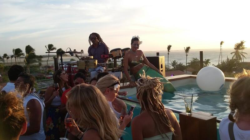 Hurricane Hotel sunset party.