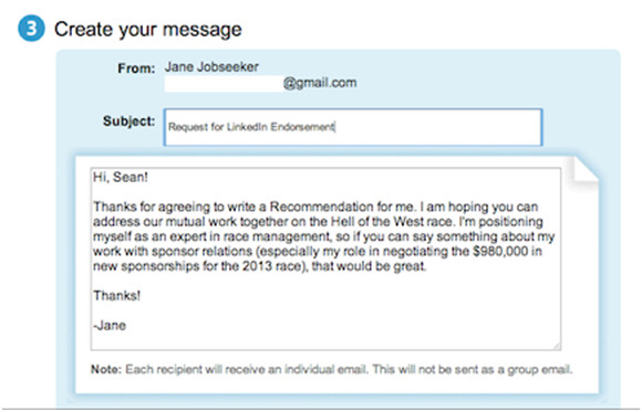 how to request a letter of recommendation through email