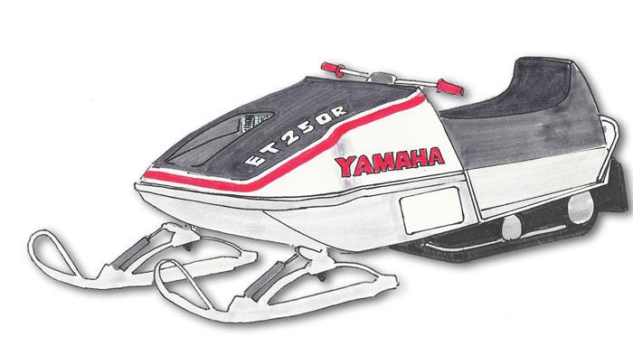 Yamaha Enticer ET250 Sno-Pro Hoods - Phil Little Racing ~ Vintage