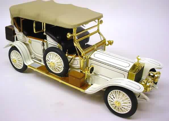 Leather White Phillymint-franklin Mint 1911 Rolls Tourer Model