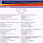 October 2012 Civil Service Exam Passers Advisory