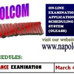 NAPOLCOM Online Application Exam Dates Postponed