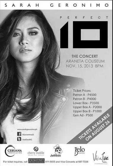 Sarah G Concert