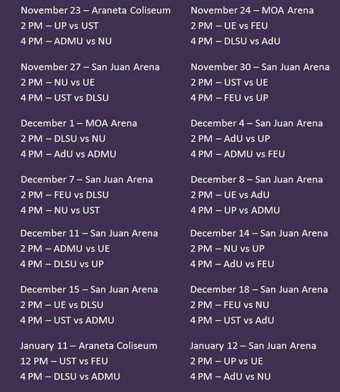 uaap volleyball 2013 schedules by ed umbao on september 24 2013