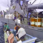 Philippine Navy Conducting Relief Operations in Bantayan Island (Photos)