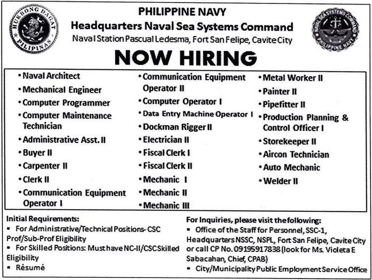 Resume Online Apply Online Jobs Apply Now Work From Home Philippine Navy Announced Job Hiring Vacancy How To Apply