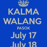Walang Pasok on Friday & Saturday (July 17 & 18) Due to Glenda
