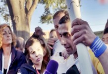 Syrian refugee Olympic flame carrier
