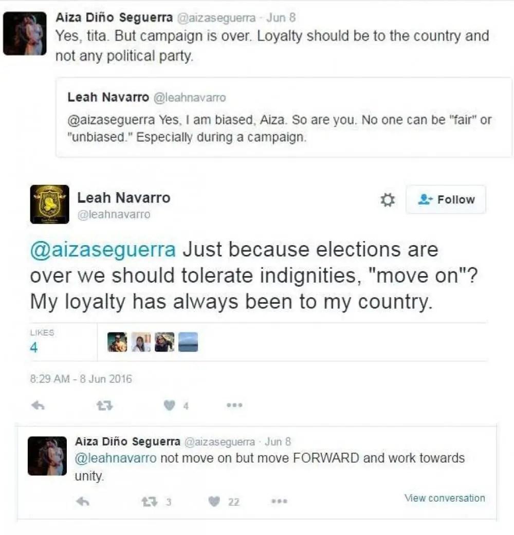 Viral News Lists Quiz Videos Polls: Aiza Seguerra And Leah Navarro's Twitter Feud Goes Viral