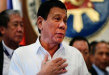 President Rodrigo Duterte Excited