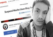 Ironic Twist: Facebook Suspended The Account Of Mocha Uson Petitioner