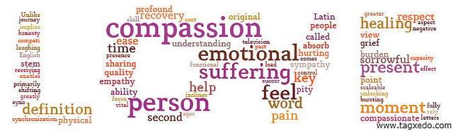 Love and compassion go with so many other words, it's hard to list them all.