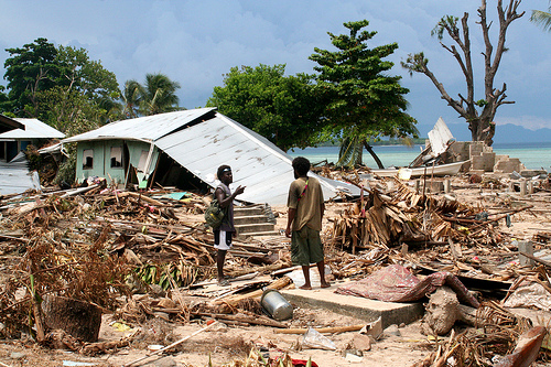 Tsunami damage, Solomon Islands 2007 - It's easy to care when something this devastating happens. But what about the other days of your life?