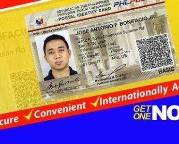 new postal id card requirements