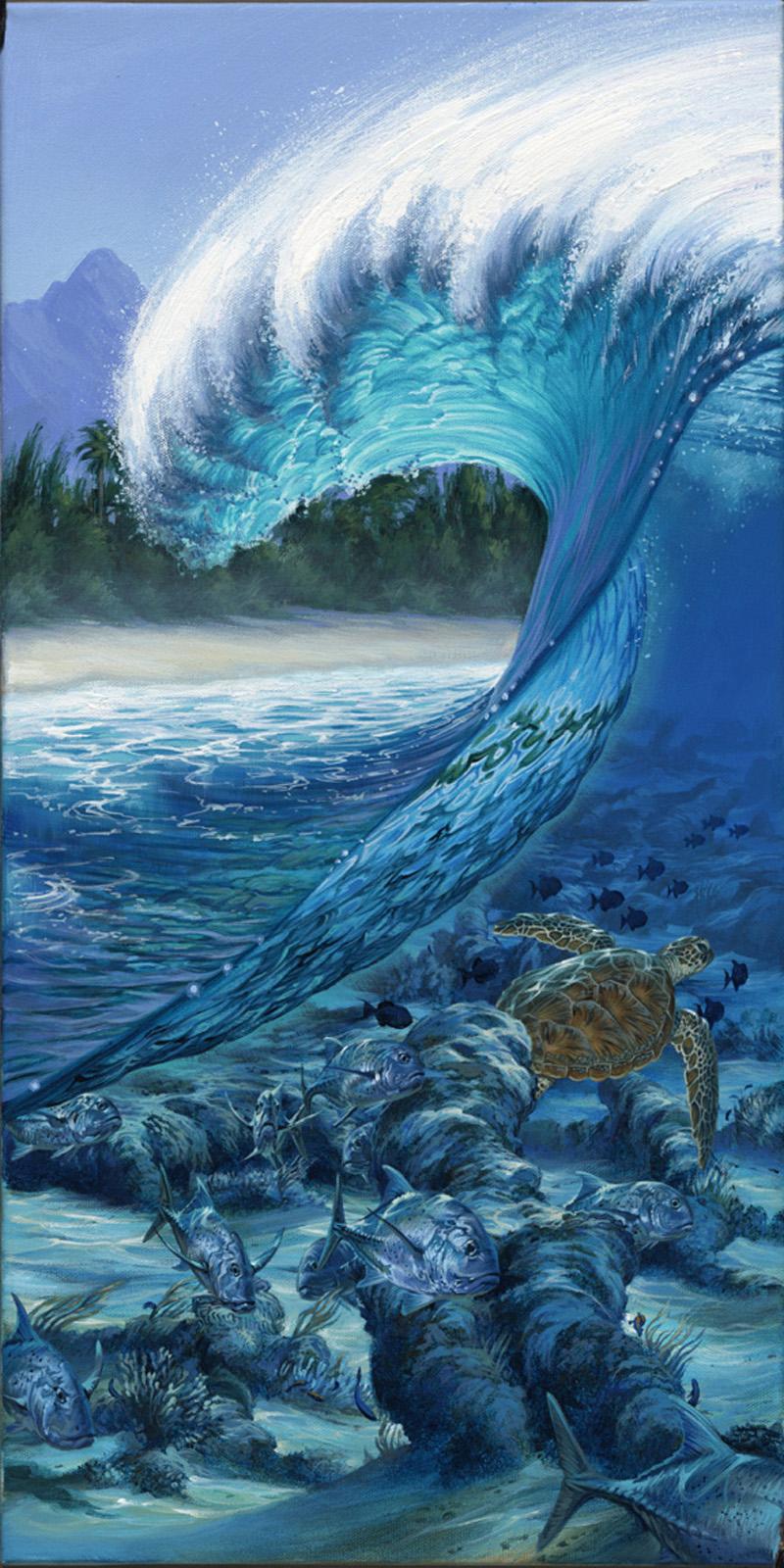 Surfer Girl Bali Wallpaper Surf Art By Phil Roberts Phil Roberts Art