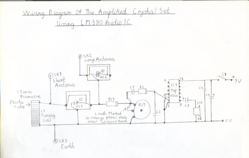crystal radio wiring diagram