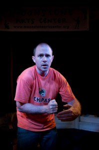 Chris Davis performing DRUNK LION, part of this year's Edinburgh Fringe Festival.