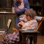 Megan Bellwoar (standing) and Mary Martello (seated) as Maureen and Mag Folan in Lantern Theater Company's production of Martin McDonagh's THE BEAUTY QUEEN OF LEENANE. Photo by Mark Garvin.