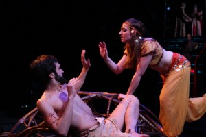 Peter Andrew Danzig as Jokanaan and Lizzy Pecora  as Salome, Villanova Theatre