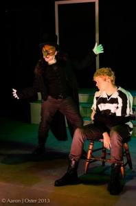 Shamus Hunter McCarty and Alan Holmes in Luna's A CLOCKWORK ORANGE (Photo credit: Aaron J. Oster)