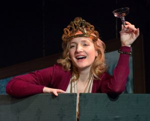 Maggie Lakis in Act II's TWELVE DATES OF CHRISTMAS. Photo by Mark Garvin.