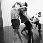"Jesse Sani and Caili Quan rehearse James Gregg's ""Head in the Clouds"". Photo by Bill Hebert"